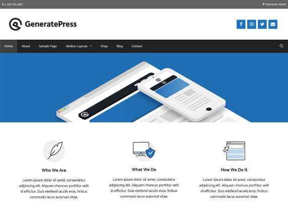 generatepress motyw wordpress