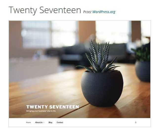 darmowe szablony wordpress twenty seventeen