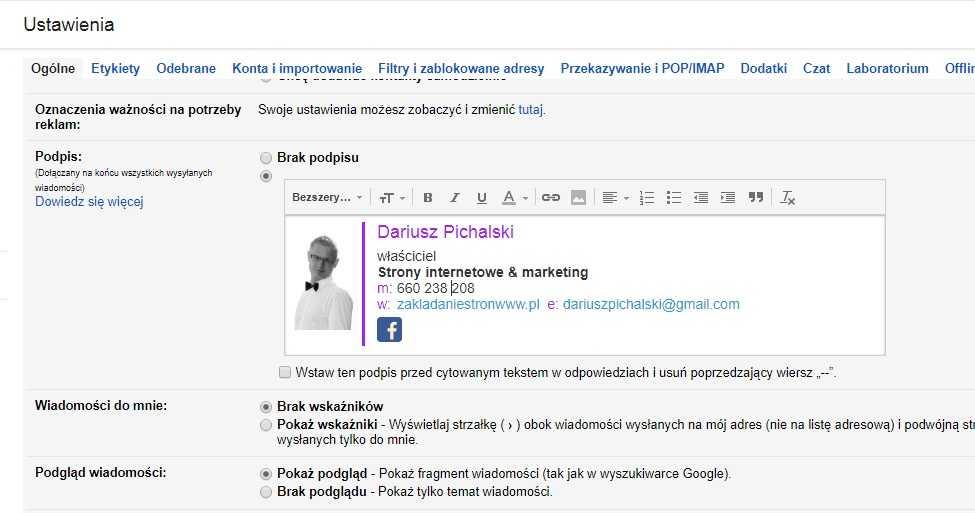 profesjonalny podpis email
