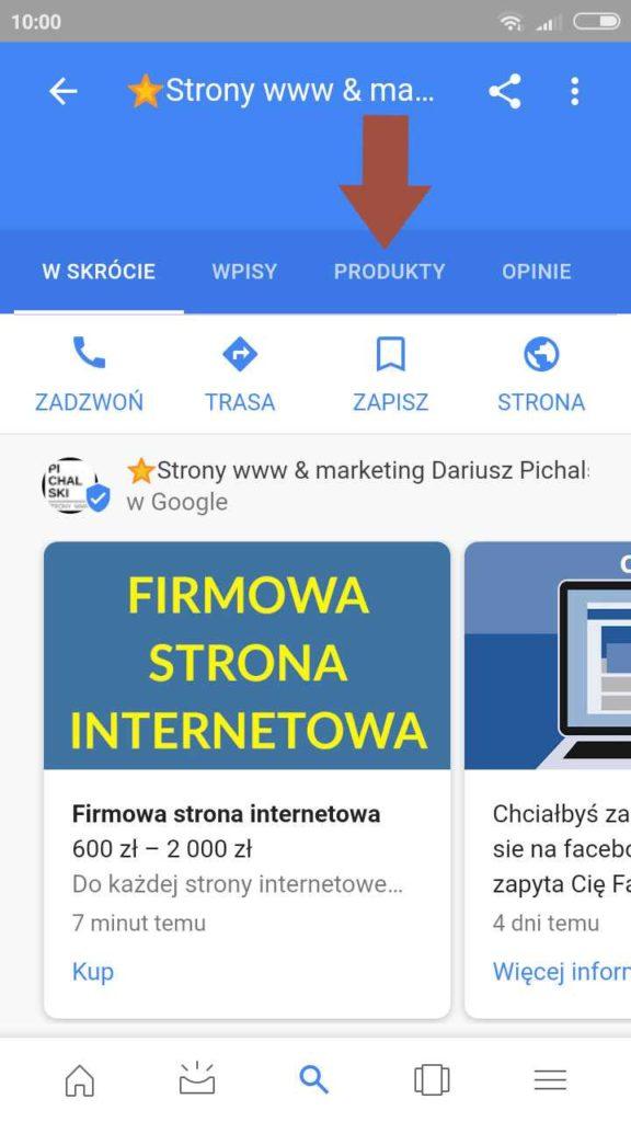 produkty google maps na telefonie