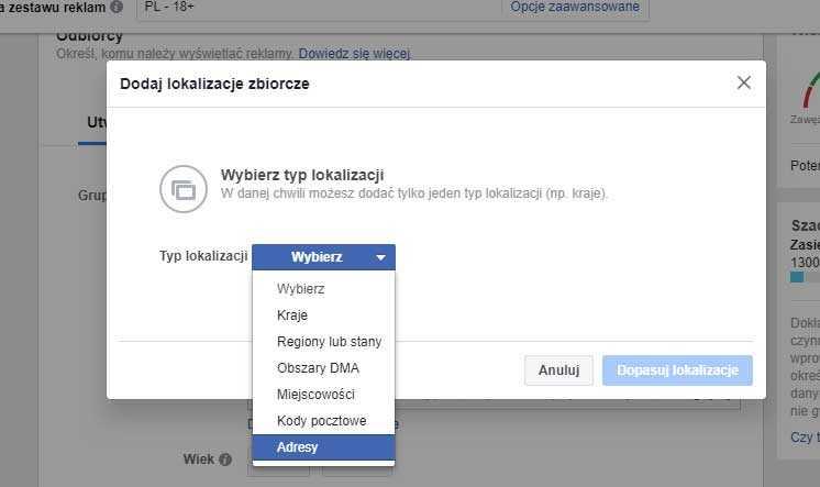 facebook adresy