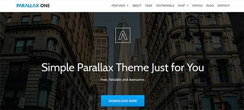 parallax wp theme