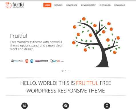 fruitful wordpress motyw