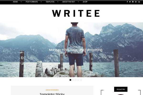 szablon wordpress writee