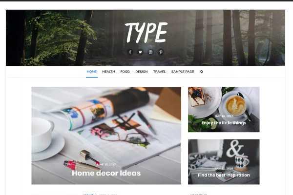 type wordpress motyw
