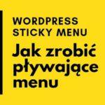 sticky menu wordpress
