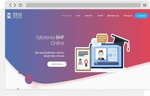 projekt wordpress szkolenia bhp
