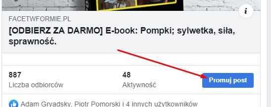 facebook promuj post