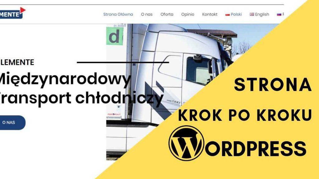 strona na wordpress dla firmy transportowej