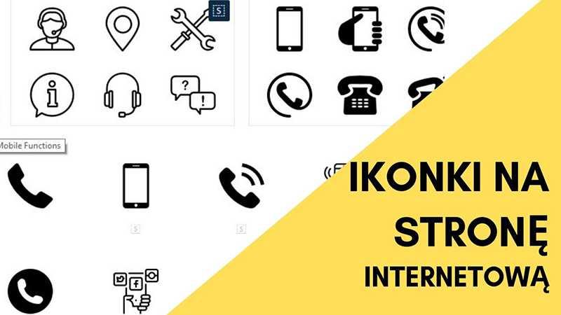 ikony na stronę internetową