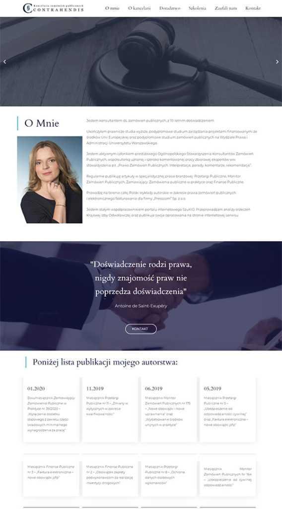 strony internetowe portfolio contrahendis